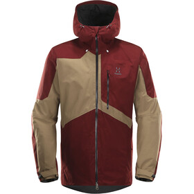 Haglöfs Nengal Insulated Jacket Men dark ruby/oak